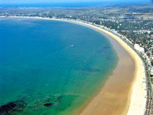 La Baule, Pouliguen, Pornichet, Presqu'île de Guerande, plages, sports nautiques, marais salants