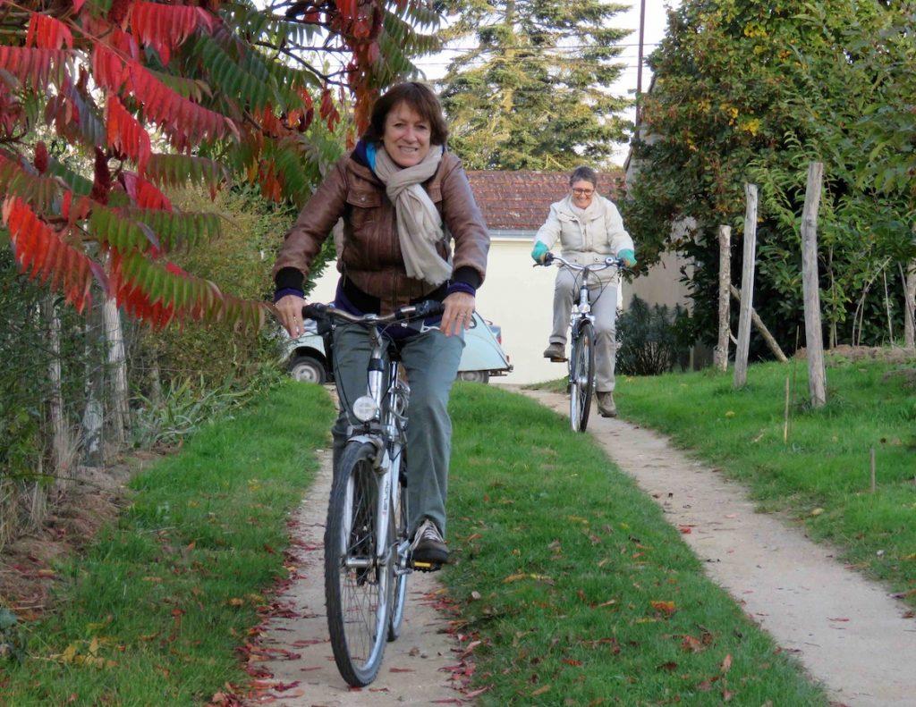 Balade à vélo, départ depuis le gîte